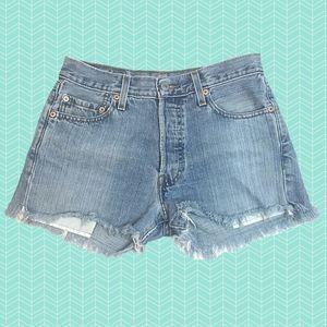 Levi's 501 High Waist Cut off Denim Shorts NO SIZE